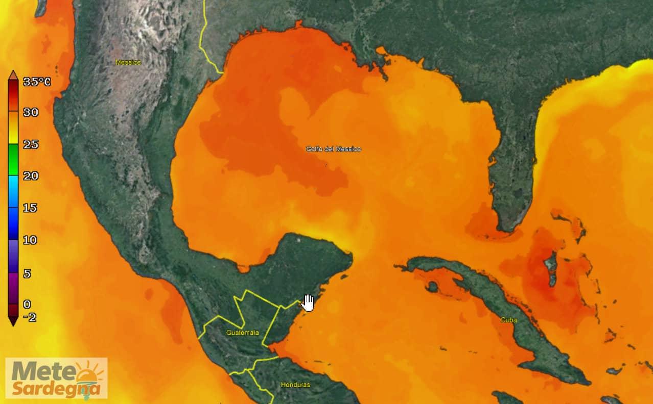 golfo del messico - Mari della Sardegna con temperature tropicali, ecco causa del meteo estremo