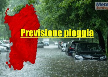 previsione pioggia Sardegna