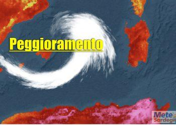 Ciclogenesi mediterranea, con aggravamento condizioni meteo.