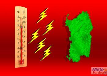 sardegna caldo e temporali 350x250 - SARDEGNA, meteo con stop al CALDO FOLLE, e improvviso Autunno in Ottobre