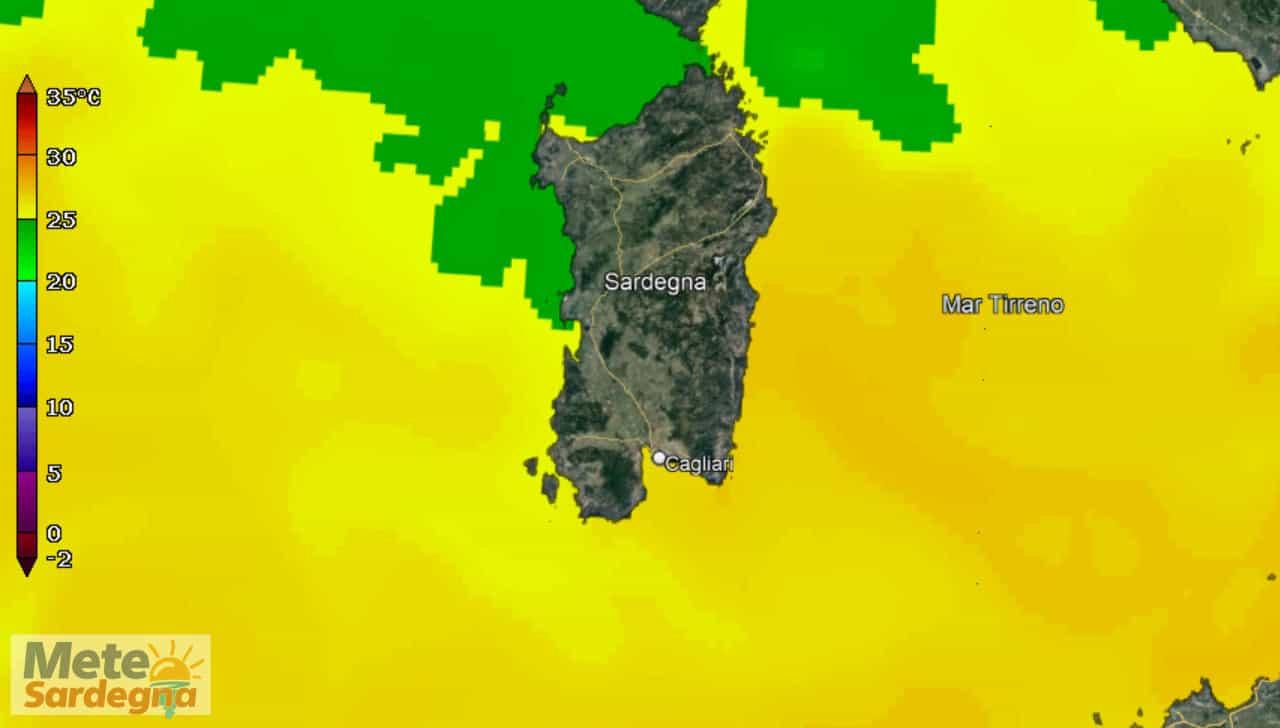 temperature mari sardegna - Mari della Sardegna con temperature tropicali, ecco causa del meteo estremo