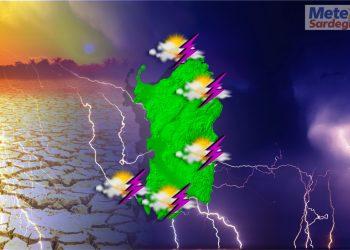 evoluzione meteo con forti piogge