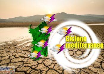 Meteo Sardegna influenzata da ciclone mediterraneo.