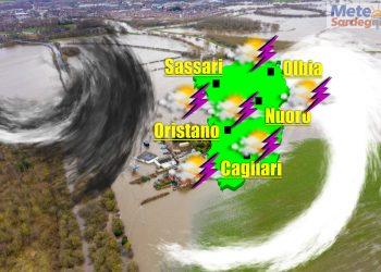 meteo sardegna piogge previste